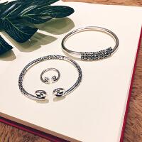 紧箍咒金箍棒手镯戒指套装复古男女情侣手环镯子首饰
