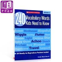 【中商原版】二年级孩子要知道的240个单词240VocabularyWordsKidsNeedtoKnow G2