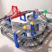 立昕LIXIN 火车轨道 儿童组合拼装电动益智拼搭轨道车积木玩具