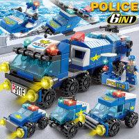 儿童乐高积木城市工程吊车拼装玩具益智力动脑多功能拼图男孩礼物