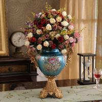奢华欧式花瓶装饰品摆件美式创意树脂家居客厅插花器电视柜工艺品