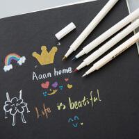 金属彩色记号笔套装 高光笔手绘白笔绘画补漆笔金色油漆笔马克笔