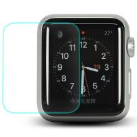 Allskin 苹果手表钢化玻璃膜 Apple Watch 贴膜高清防爆膜保护膜38/42mm 苹果智能手表高清保护贴