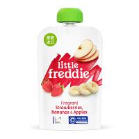 英国小皮Little Freddie 香蕉草莓苹果泥90g 6个月以上 宝宝辅食