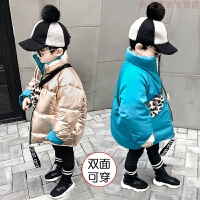 男童棉衣2018新款�和�加厚�擅娲╉n版羽�q中大童����冬�b外套