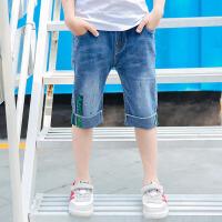儿童短裤 男童薄款宽松牛仔中裤子夏季韩版新潮时尚休闲中大童五分裤