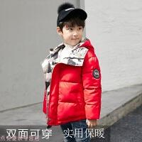 冬季男童棉衣外套2018冬新款中大童短款小童棉袄儿童红色加厚羽绒秋冬新款