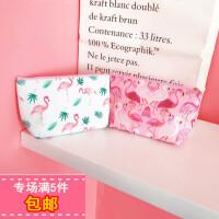 韩版ins小清新粉红火烈鸟粉红豹化妆包可爱少女心便携收纳包洗漱