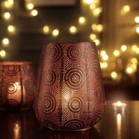 欧式烛台摆件复古铁艺烛台北欧浪漫咖啡厅餐桌香薰蜡烛台美式烛台