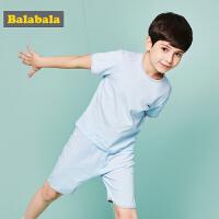 巴拉巴拉童装儿童男童女童夏装2018新款内衣套装中大童薄款家居服