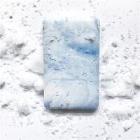 清新蓝色创意自带双线充电宝安卓苹果便携移动电源
