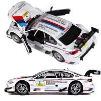 赛车汽车模型仿真儿童声光回力合金车模男孩跑车玩具车