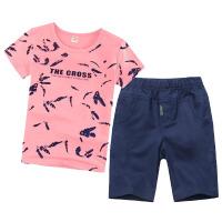 童装男童夏季套装中大童夏装短袖两件套新款男孩儿童