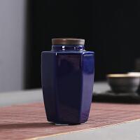 茶叶罐陶瓷便携迷你旅行密封罐粗陶紫砂小茶罐