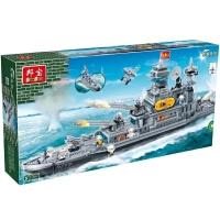 邦宝巡洋舰战舰军舰拼装启蒙轮船军事模型男孩积木玩具7-10-12岁8241