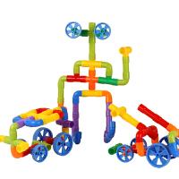 儿童水管道积木玩具1-2-3周岁4-6-7-10岁宝宝男女孩塑料拼装