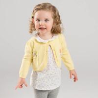 davebella戴维贝拉春季新款女童针织开衫 宝宝纯棉开衫DBZ7251