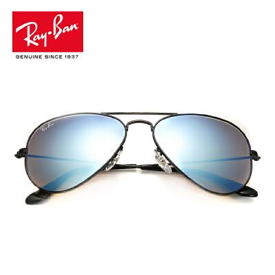RayBan雷朋太阳眼镜男女款蛤蟆镜个性潮流渐变彩膜反光镜0RB3025 002/40