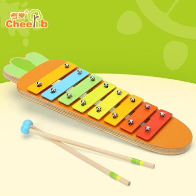 橙爱木质婴幼儿8音敲琴木琴打击手敲乐器音乐益智启蒙玩具益智玩具限时钜惠