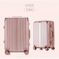 行李箱女小清晰铝框拉杆箱万向轮旅行箱包28密码箱男登机箱20寸24