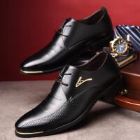 宜驰 EGCHI 商务休闲时尚耐磨正装工作男士皮鞋子 K009
