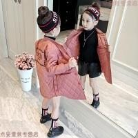 女童2018新款儿童棉衣中长款冬装加厚女孩棉袄洋气中大童外套