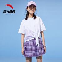 【到手价135】【商场同款】安踏女短袖针织衫2021夏季新款户外运动衫162128130