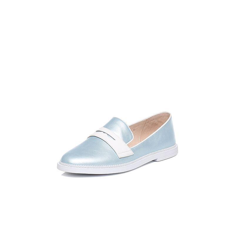 Tata/他她2017年春季专柜同款牛皮女休闲鞋T1026AQ7