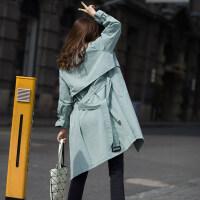 孕妇孕妈风衣2019新款春季韩版女士春秋中长款卡其色休闲薄款chic风衣外套