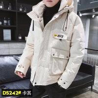 冬季外套男2018新款韩版潮流加厚ins工装棉袄羽绒冬装棉衣潮