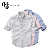 Abercrombie & Fitch 春秋款男士休闲A&F标识logo款衬衫