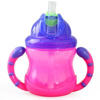 美国努比Nuby吸管杯儿童水杯宝宝饮水杯学饮杯婴儿带手柄杯子