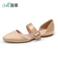 Y茵曼女鞋2018春季新绸缎平跟鞋平底鞋百搭浅口单鞋女4882050103