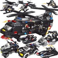 兼容乐高积木飞机警察汽车益智力拼装玩具男孩子坦克军事机器人动