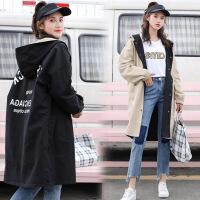两面穿风衣女中长款2018春秋季新款韩版潮宽松BF学生春季外套女式