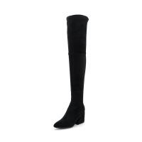 【领券减100】迪芙斯(D:FUSE)冬季专柜织物异形跟圆头时尚舒适长靴女靴DF84117531