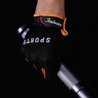 夏季全指触屏男士骑行手套 户外运动健身训练器械登山手套男
