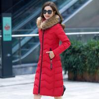 冬装新款羽绒服女装韩版大真毛领修身羽绒服女中长款