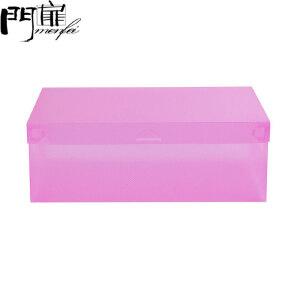 【6个装】门扉 鞋盒 加厚翻盖式透明男女鞋盒PP塑料可折叠鞋盒儿童储物收纳盒满5个送1个