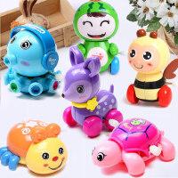发条玩具婴幼儿童Q萌可爱动物六件套宝宝趣味上弦上链早教小玩具