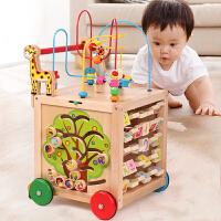 宝宝学步车手推车婴儿童百宝箱玩具6-18个月可调速助步车1岁