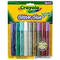 [Crayola绘儿乐] 9色可洗 绚闪光胶水笔 马克笔 水彩笔69-3527