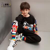 【3件2折:109.8元】小虎宝儿男童运动套装2021年款春装儿童卫衣洋气两件套中大童潮