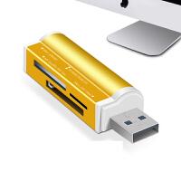 多合一高速读卡器USB3.0多功能SD小TF车载CF卡相机手机迷你
