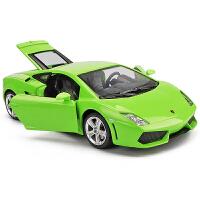 1:24男孩汽车模型摆件彩珀仿真兰博基尼盖拉多跑车合金车模
