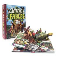 英文原版儿童书 伊索寓言立体书 精美立体书 Aesop's Fables: A Pop-Up Book of Class