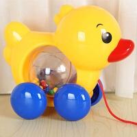 宝宝拖拉学步玩具车幼儿园1-3岁儿童牵引手拉绳响铃鸭子拉线小狗儿童节礼物