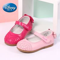 迪士尼小熊维尼童鞋 女童皮鞋2017春夏新款1-5岁儿童鞋幼儿园鞋公主鞋真皮单鞋