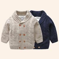 宝宝加绒外套男1一3岁男童秋冬装上衣保暖婴儿毛衣女英式婴儿衣服