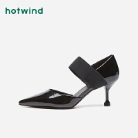 热风女士潮流时尚休闲单鞋尖头细高跟鞋H35W9115